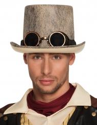 Cappello a cilindro patinato per adulto Steampunk