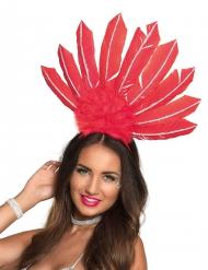 Copricapo brasiliano rosso da donna