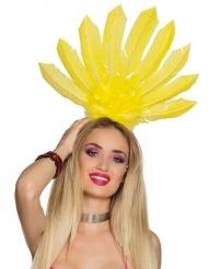 Copricapo brasiliano giallo per donna