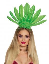 Copricapo brasiliano di piume verdiper donna