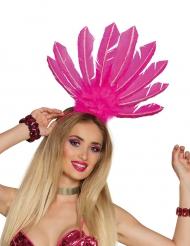 Copricapo brasiliano rosa per donna