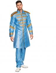 Costume cantante pop azzurro per adulto