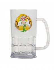 Boccale di birra trasparente 14 cm oktoberfest