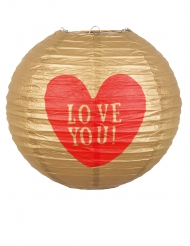 Lanterna in carta Love You 25 cm