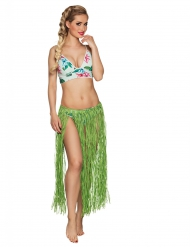 Gonna hawaiana lunga colore verde
