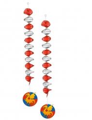 2 Decorazioni a sospensione Cavaliere 60 cm