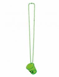 Collana con bicchiere per shortini verde fosforescente