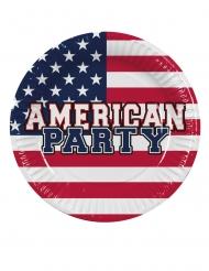 6 Piatti in cartone festa americana