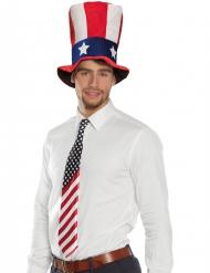 Cravatta colori bandiera U.S.A. adulto