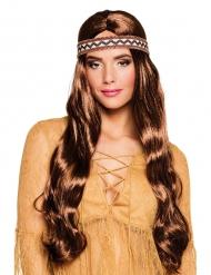 Parrucca da indiana con bandana