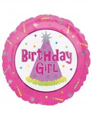 Palloncino in alluminio Birthday girl rosa