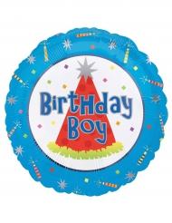 Palloncino in alluminio Birthday Boy blu