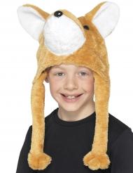 Cappello in peluche da volpe per bambino