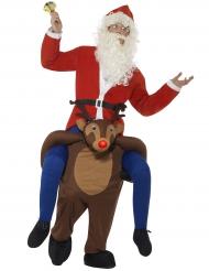 Costume Carry Me Babbo natale sulla renna per adulto