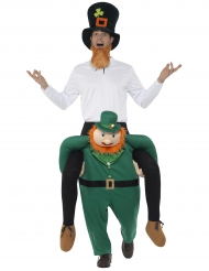 Costume uomo sulle spalle di un folletto per adulto San Patrizio