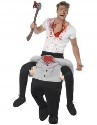 Costume sulle spalle di uomo senza testa per adulto halloween