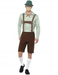 Costume Bavarese verde e marrone per adulto