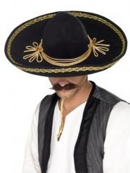Sombrero nero e oro per adulto