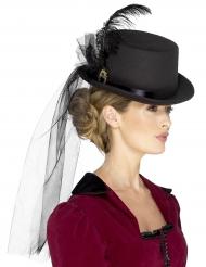 Cappello cilindro Steampunk per donna