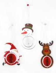 3 decorazioni di natale 12 cm