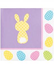 16 Tovaglioli in carta viola coniglio 25 x 25 cm