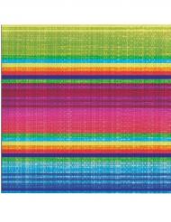 16 Tovaglioli fantasia Poncho colorato