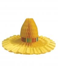 Centro tavola cappello giallo