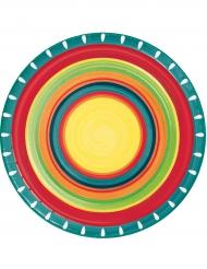 8 Piatti in cartone messicani 22 cm