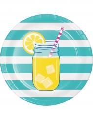 8 piatti di carta limonata 22 cm