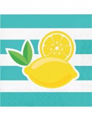 16 Tovaglioli Limone 25x25 cm