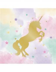 16 tovaglioli di carta Unicorno