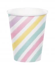 8 Bicchieri di carta Unicorno pastello