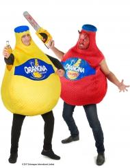 Costume coppia di bottiglie Orangina™ Adulto