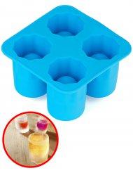 Stampo per ghiaccio in silicone per 4 shottini