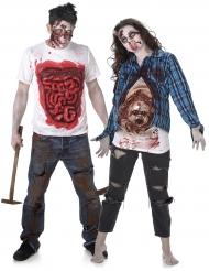 Costume di coppia zombie con effetti terrificanti