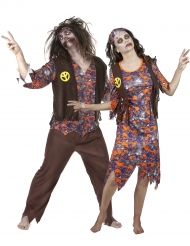 Vestito coppia Hippy zombi per Halloween