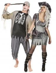 Vestito da pirata zombie halloween di coppia