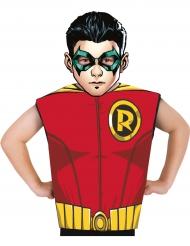 Maglietta Robin e maschera in cartone per bambino