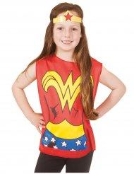 Image of T-shirt e tiara Wonder Woman™ bambina