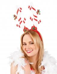 Cerchietto con Bastoncini di zucchero per adulto Natale