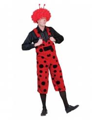 Costume a salopette coccinella per adulto