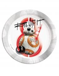 8 Piatti BB-8 Star Wars 8 Gli ultimi Jedi™ 23 cm