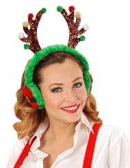 Pareorecchie renna di Natale per adulto