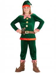 Costume da folletto del Natale per bambino