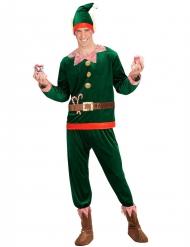 Costume da elfo di babbo Natale per uomo