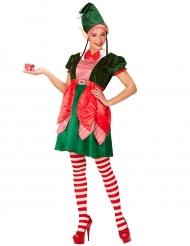 Costume da elfo di Babbo Natale per donna
