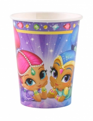 8 Bicchieri in cartone Shimmer and Shine™ 250 ml