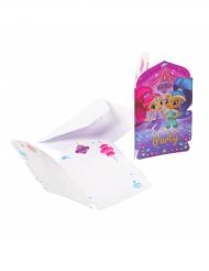 8 Inviti di compleanno con busta Shimmer e Shine™
