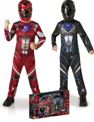 Cofanetto regalo 2 costumi Power Rangers™ Rosso e Nero per bambino