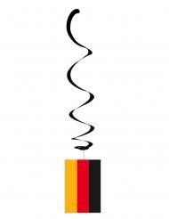 Lotto di 6 sospensioni metallizzate con bandiera della Germania